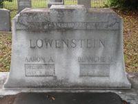 Grabstein für Aaron und Blanche Lowenstein