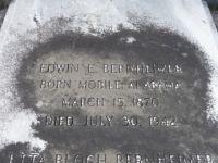Grabstein von Edwin und Etta Bernheimer, Detail