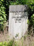 Grabstein für Rudolf Brunner und Gina Segre