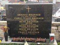 Grabstein Für Arminio, Carlo Felice, Irene, Hilda, Jenny und Franco Brunner