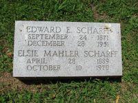 Grabstein von Edward E. Scharff und Elsie Mahler Scharff