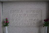 Grabstein für Emma Kahne