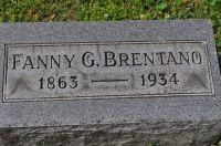Grabstein Fanny G. Brentano