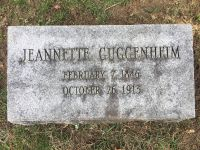 Grabstein Jeanette Guggenheim (geb. Schmal)
