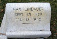 Grabstein von Max Lindauer