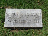 Grabstein Sidney N. Scharff