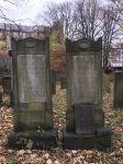 Grabsteine für Moses Melchior und  Brigitte Israel (verh. Melchior)