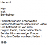<b>Bernheimer Isak </b> <br> <i>Vorderseite</i> <br>