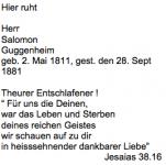 <b>Guggenheim Salomon</b> <br> <i>Rückseite</i> <br>