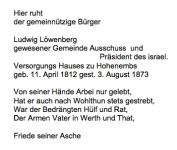 <b>Löwenberg Ludwig</b> <br> <i>Rückseite</i> <br>