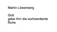 <b>Löwenberg Martin</b> <br> <i>Vorderseite</i> <br>