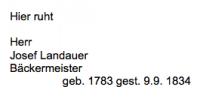 <b>Landauer Josef</b> <br> <i>Vorderseite</i> <br>