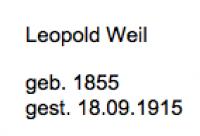 <b>Weil Leopold</b>