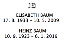 <b>Baum Elisabeth geb. Lindner</b><br> <b>Baum Heinz</b>