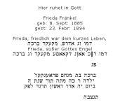 <b> Fränkel Frieda </b>