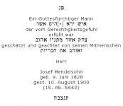<b>Mendelsohn Josef</b>