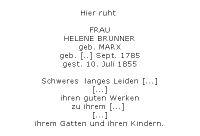 <b>Brunner Helene geb. Marx</b>
