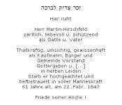 <b>Hirschfeld Martin</b>