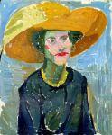 Helene von Taussig: Dame mit gelbem Hut, Salzburger Museum Carolinum Augusteum