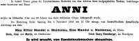 Todesanzeige Anna Mandel von Maldenau