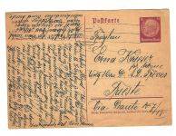 25 Februar 1939 Postcard Fanny Krieser Vienna to Erna Krieser Trieste