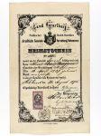 Heimatschein von Adolf Burgauer, 1875
