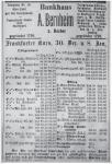 Anzeige Bankhaus A. Bernheim, 1913