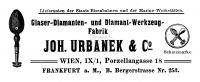 Anzeige der Fa. Joh. Urbanek & Co.