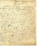 Brief von Heinrich Brunner an seine Söhne in Triest, 20.11.2020