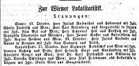 Heiratsanzeige in 'Die Neuzeit', 1.11.1867