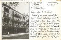 Postkarte von Siegfried Lilienstein an Simon Brentano