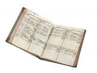 Geschäftsbuch von Albert Hirschfeld