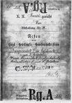 Handelsgerichtsakt zur Fangoklinik von Samuel Goldstern