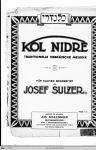 Josef Sulzer: Kol Nidre