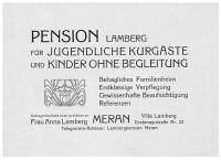 Anzeige der Pension Lamberg