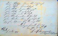 Eintrag von Sigmund Hohenemser in ein Poesiealbum in Oberdorf im Ries, 1888