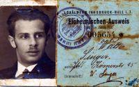 Singer Walter Einheimischen Ausweis 1935