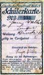 Schülerkarte 1927