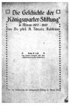 Aron Tänzer: Die Geschichte der 'Königswarter-Stiftung'. Meran 1907