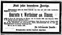 Todesanzeige für Henriette Ullmann