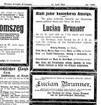 Todesanzeige für Lucian Brunner