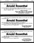 Todesanzeigen für Arnold Rosenthal