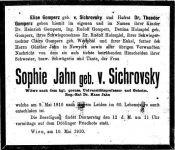 Todesanzeige für Sophie Jahn