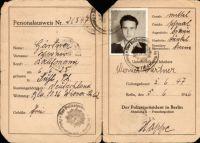 ID Card, Werner Gärtner (Goldmann), 1946
