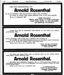 Todesanzeige für Arnold Rosenthal