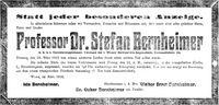 Todesanzeige Stefan Bernheimer