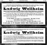 Todesanzeige für Ludwig Wollheim
