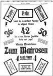 Anzeige des Wiener Kleiderhaus Zum Matrosen in Innsbruck Innsbrucker Nachrichten, 28.3.1914