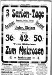 Anzeige des Wiener Kleiderhaus Zum Matrosen in Innsbruck Innsbrucker Nachrichten, 8.4.1908