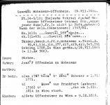 Eintrag zu Gabriel Uffenheimer im Beerdigungsregister der Jüdischen Gemeinde Frankfurt am Main.